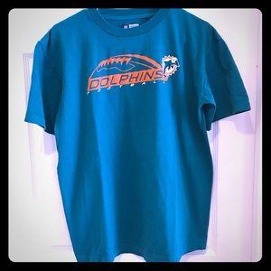 Miami Dolphins medium t shirt teal and orange